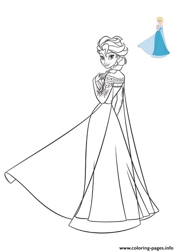 Elsa Frozen 2019 Dress Disney Coloring Pages Printable