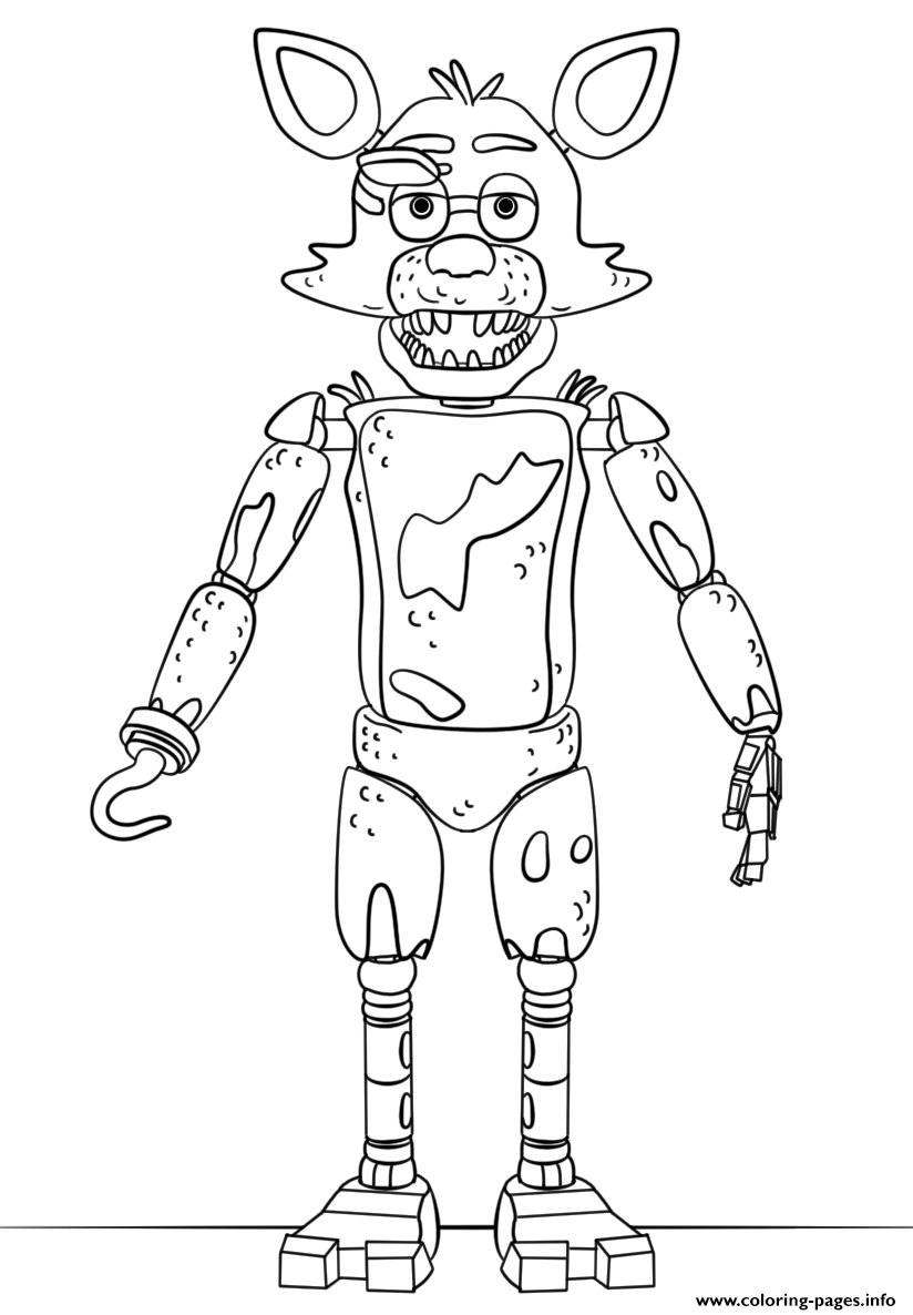 Fnaf Toy Foxy Coloring Pages Printable