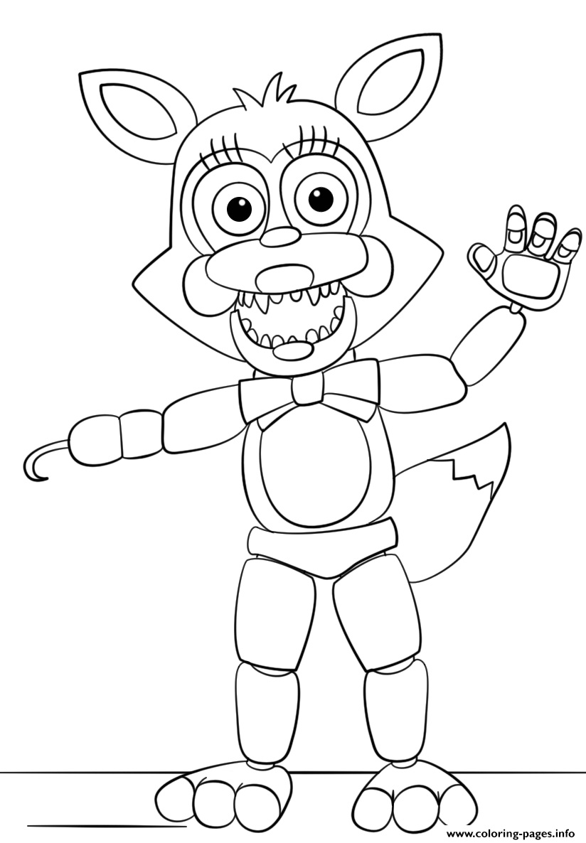 Mangle From Five Nights At Freddys Coloring Pages Printable