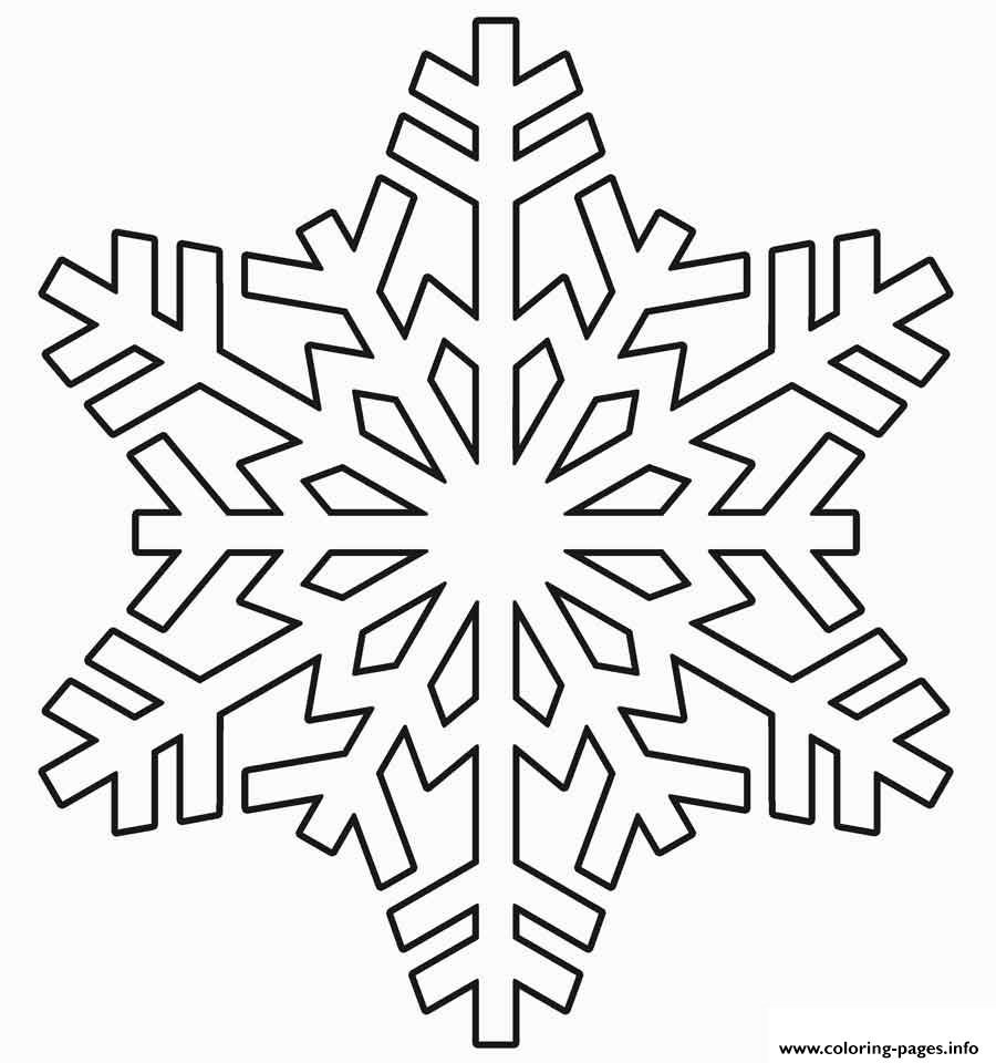 Snowflake Realistic Winter Coloring Pages Printable