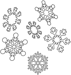 snowflakes christmas coloring pages printable [ 1159 x 1500 Pixel ]
