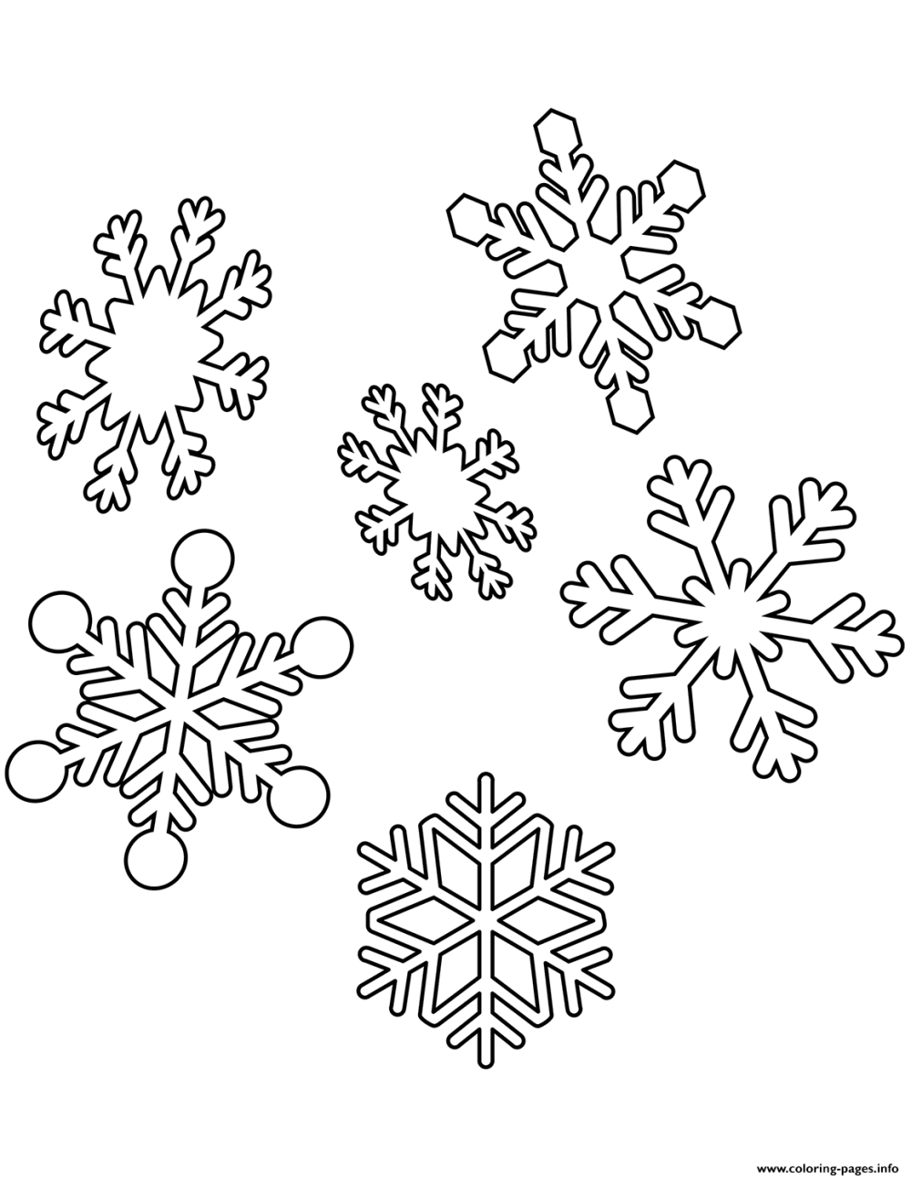 medium resolution of snowflakes christmas coloring pages printable