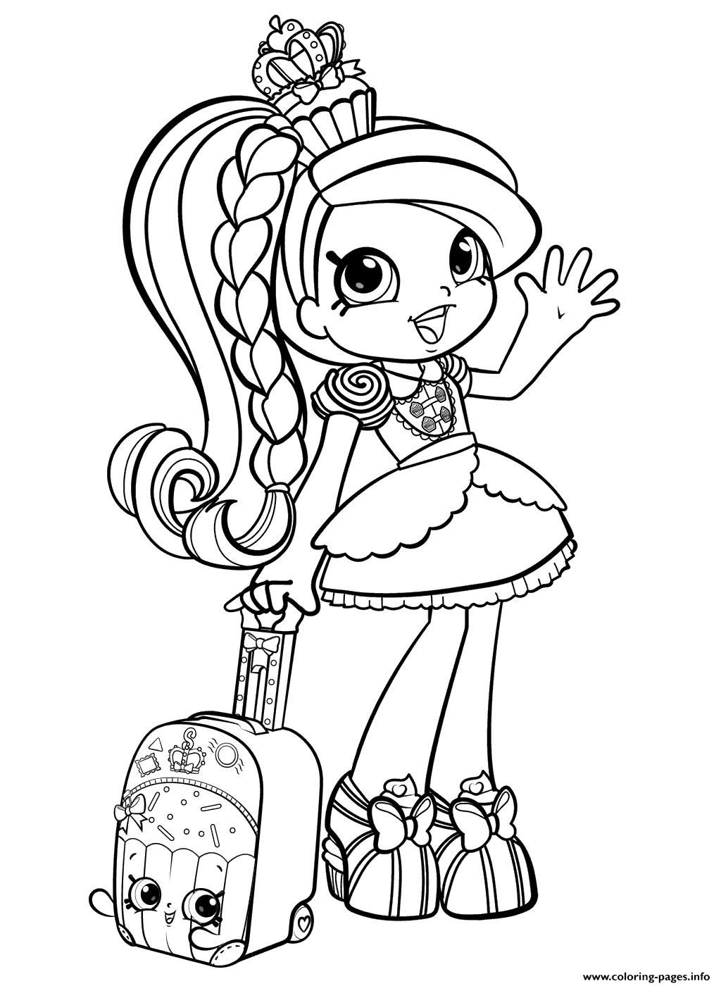 Shopkins Girl Coloring Pages : shopkins, coloring, pages, Shopkins, World, Vacation, Season, Coloring, Pages, Printable