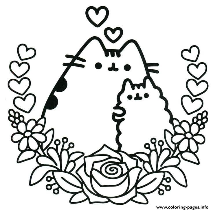 Pusheen The Cat And His Friend Coloring Pages Printable