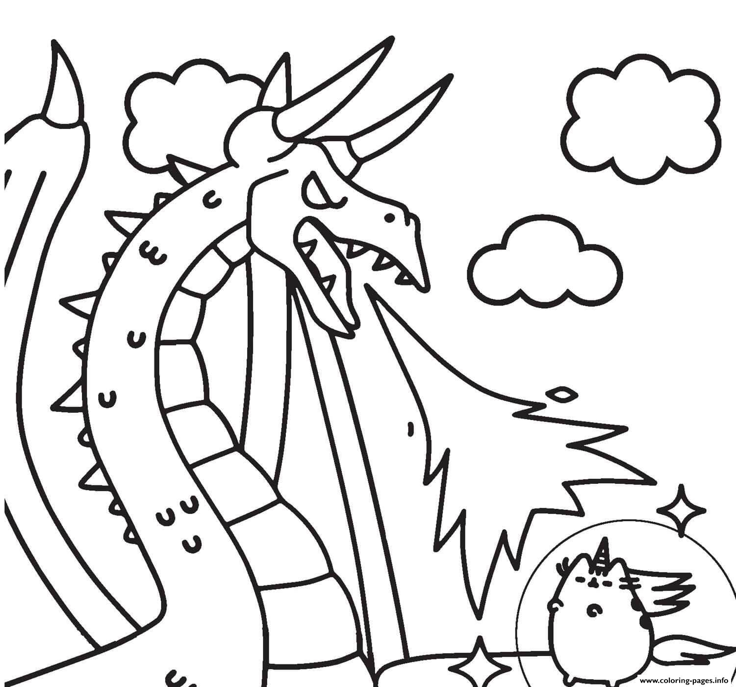 Dragon Christmas Coloring Page Coloring Pages Of Cute Dragons