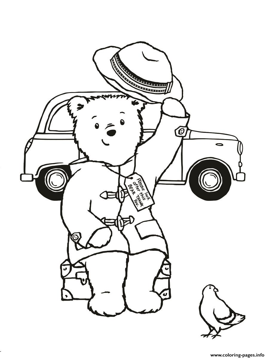 Paddington Drive A Car And Travel Coloring Pages Printable