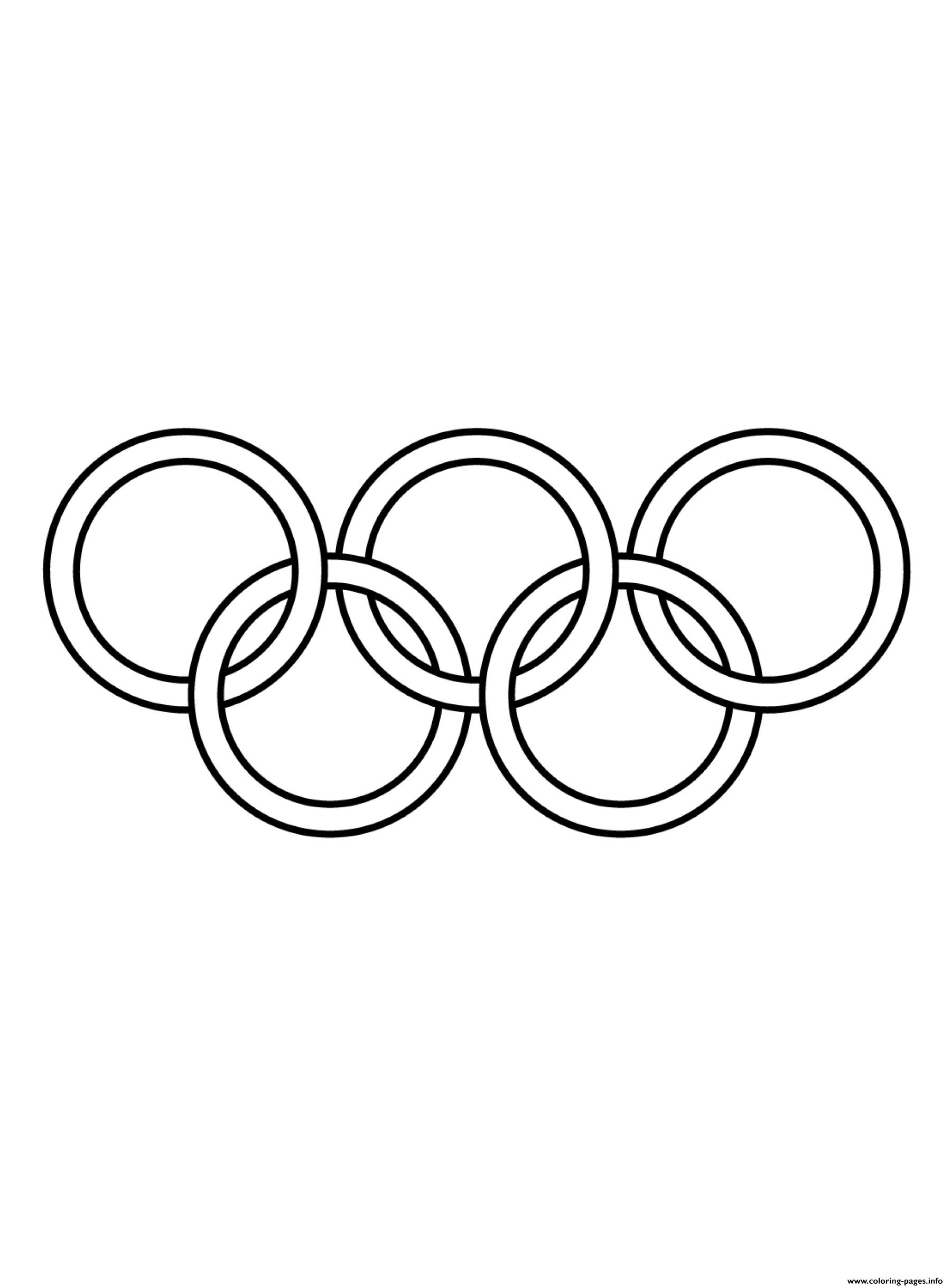 Olympic Games Clipart Black And White Coloring Pages Printable