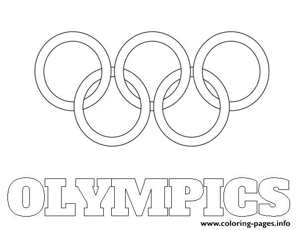 Olympic Rings Logo Coloring Pages Printable