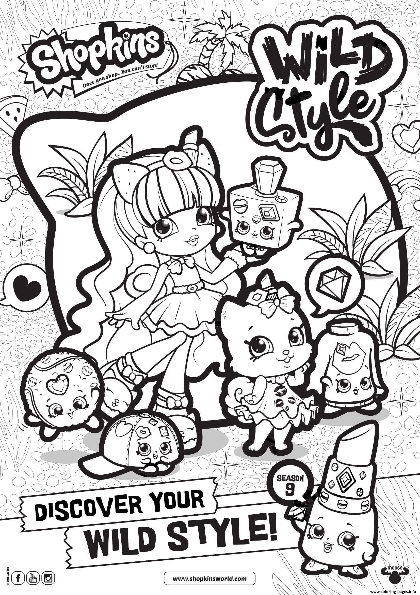 Shopkins Season 9 Wild Style 7 Coloring Pages Printable