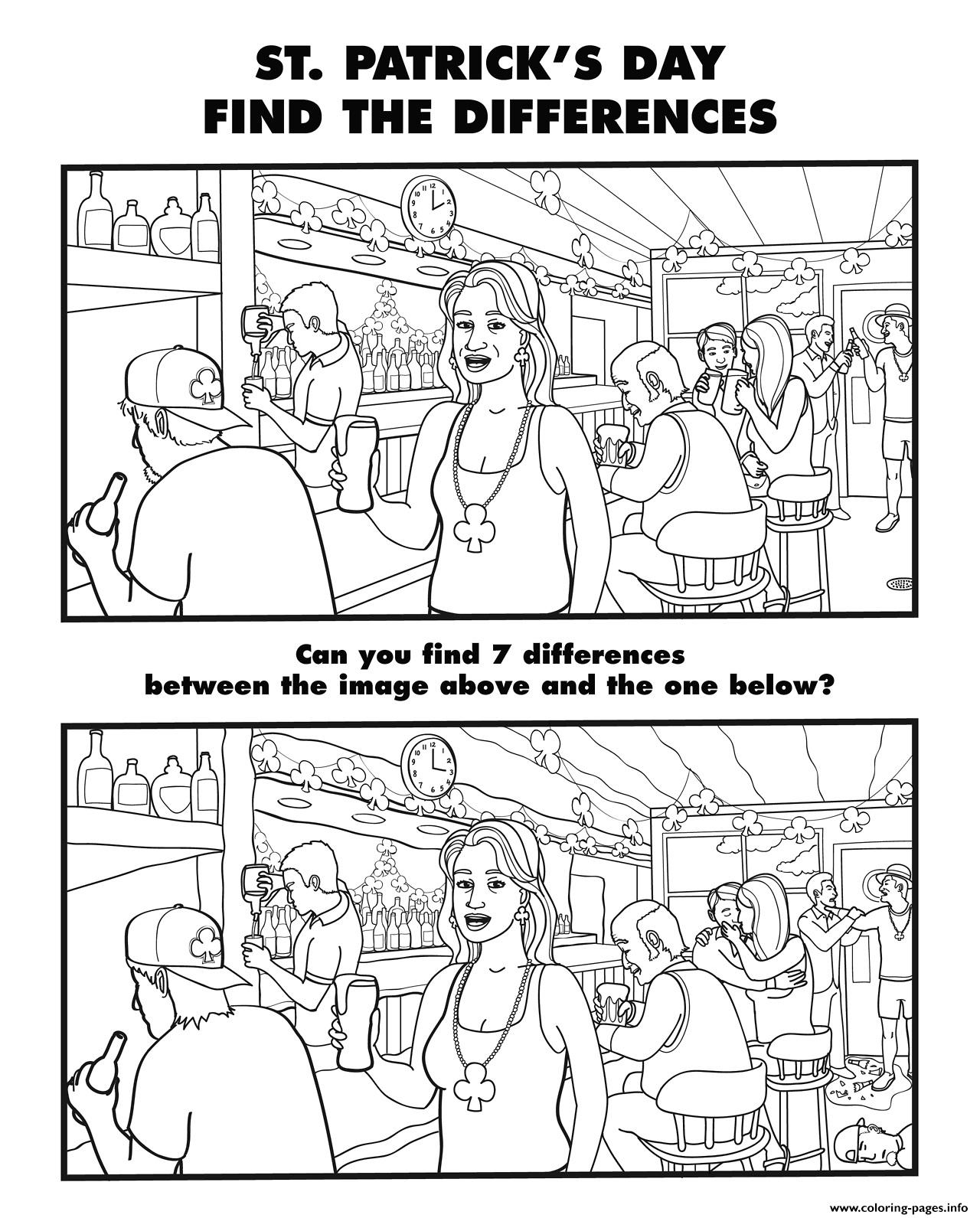 Spot The Difference For Grown Ups 29 Coloring Pages Printable