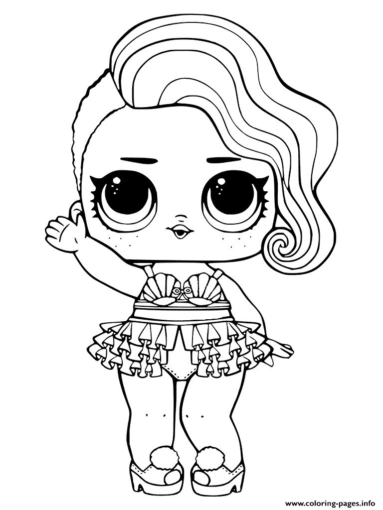 Treasure LOL Surprise Doll Coloring Pages Printable