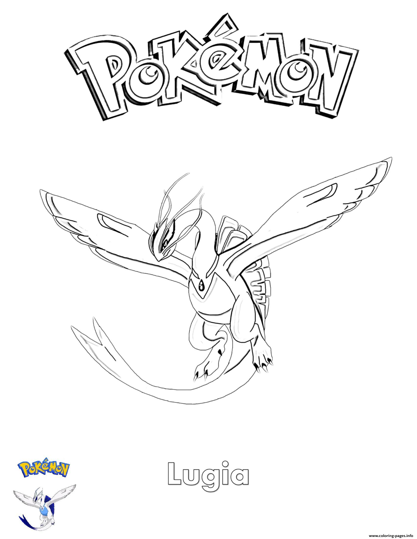 Lugia Pokemon Coloring Pages : lugia, pokemon, coloring, pages, Lugia, Pokemon, Coloring, Pages, Printable