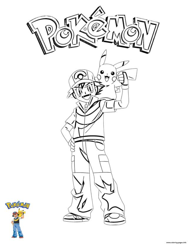 28 Ash And Pikachu Pokemon Coloring Pages Printable