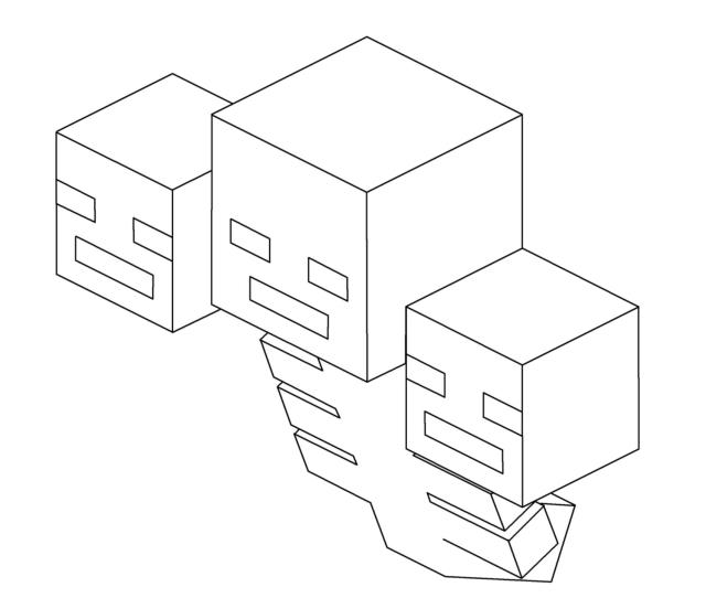 Wither Minecraft Coloring Pages Printable