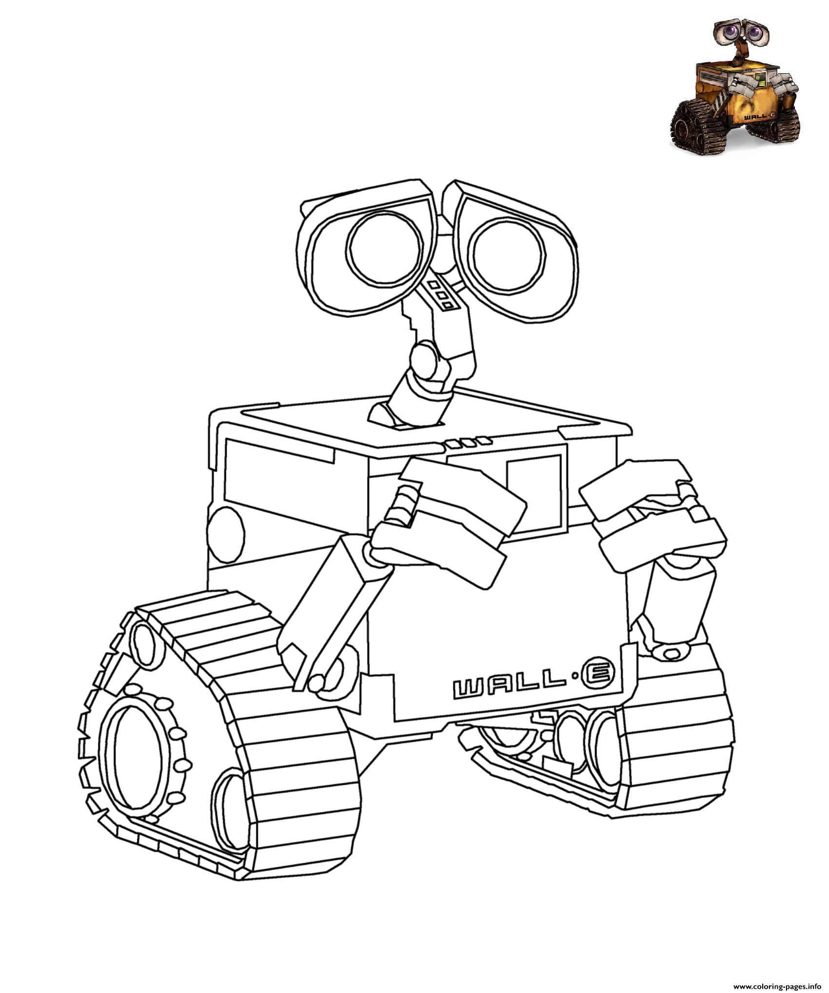 Wall E Disney Coloring Pages Printable