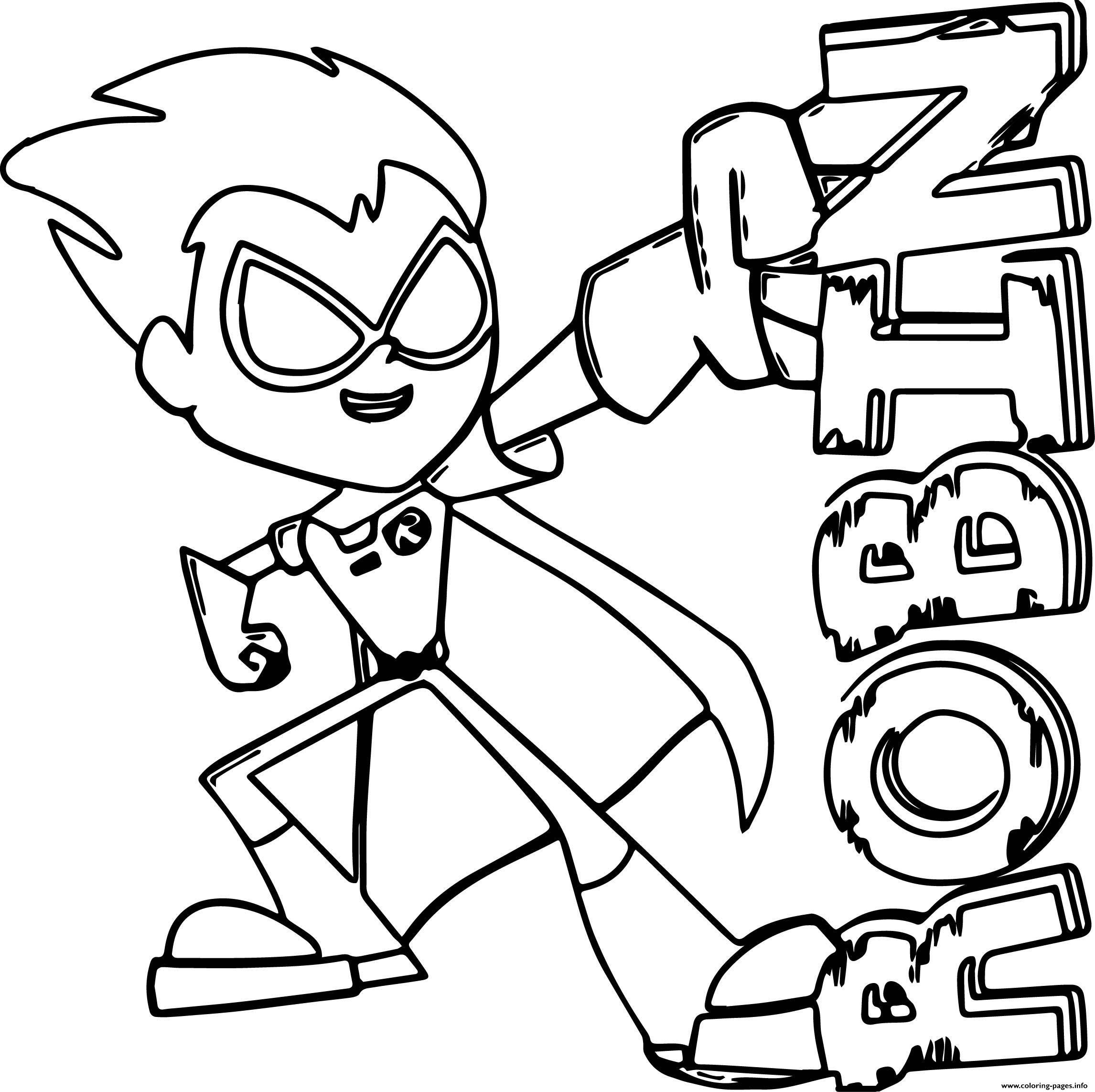 Robin De Teen Titans Go Batman Coloring Pages Printable