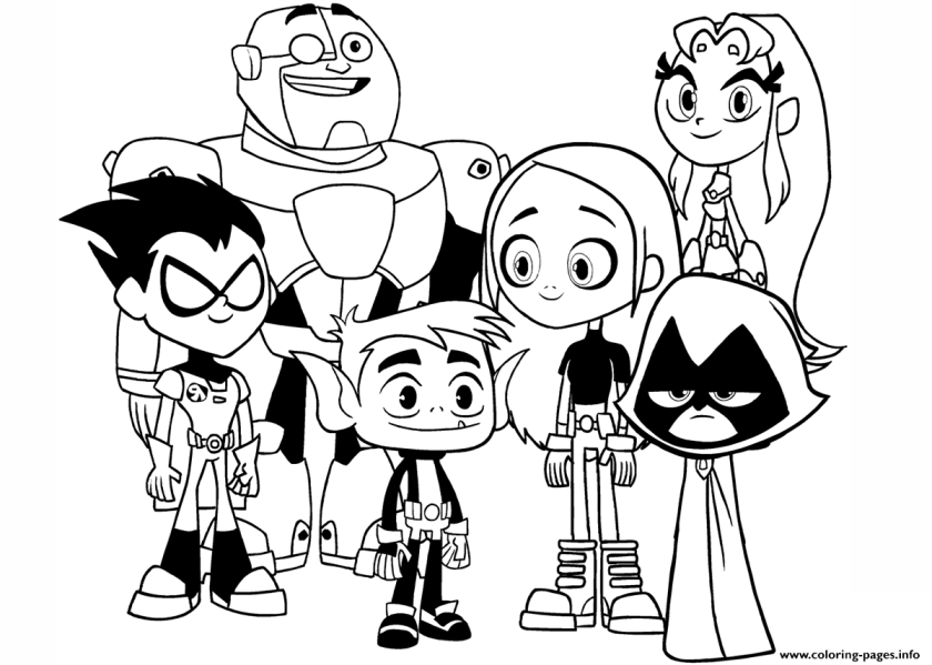 teen titans go characters movie  coloring pages printable