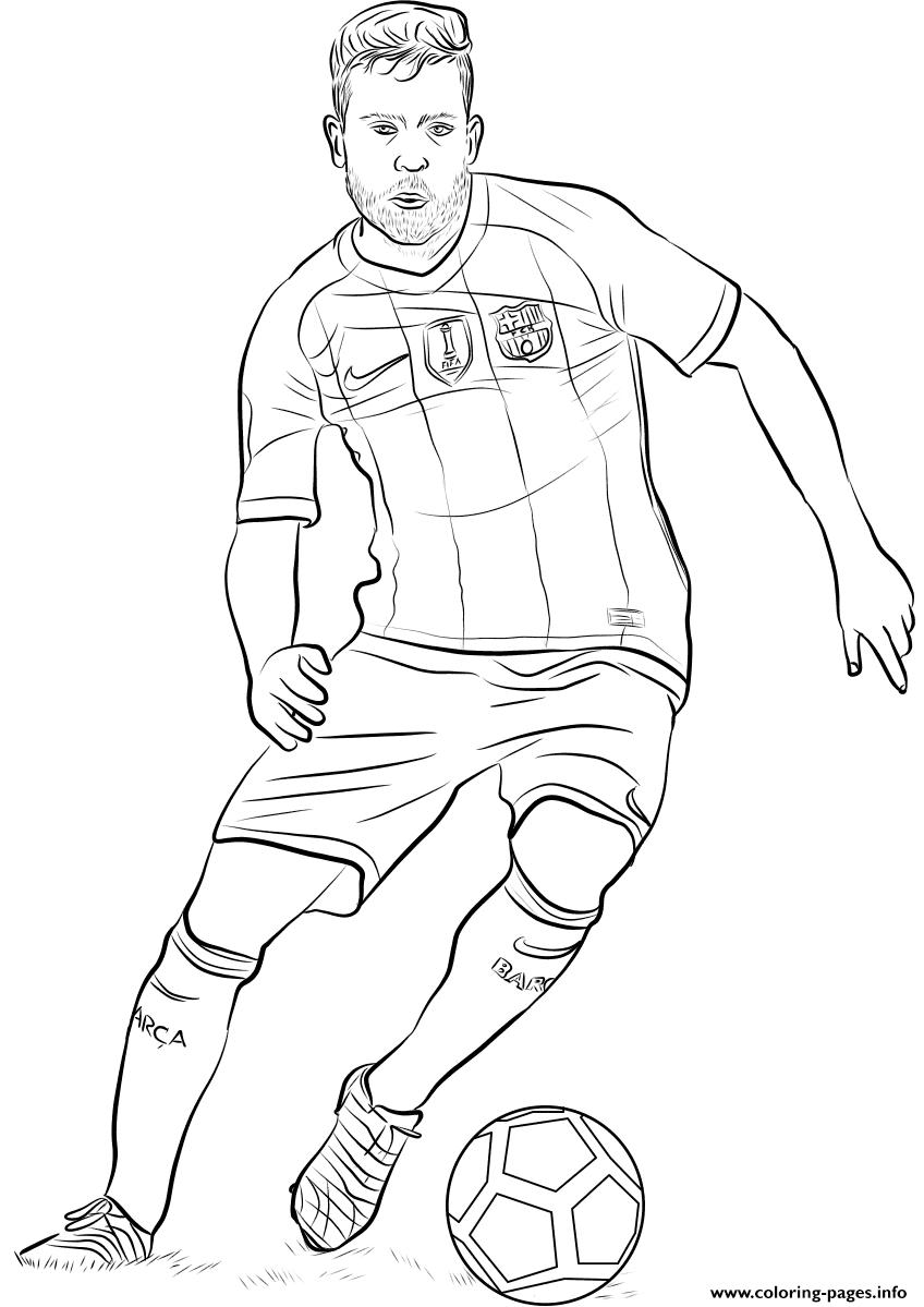 Jordi Alba Fifa World Cup Football Coloring Pages Printable