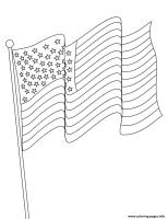 American Flag Usa 4th July Coloring Pages Printable