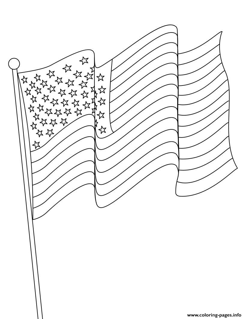 Malvorlage Amerikanische Flagge