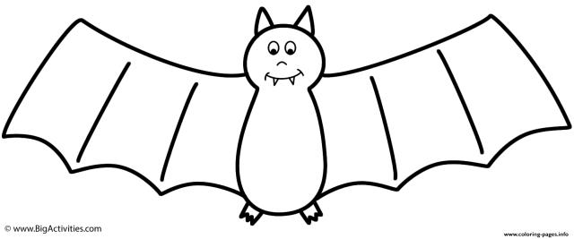 Bertmilne Bat Halloween Coloring Pages Printable