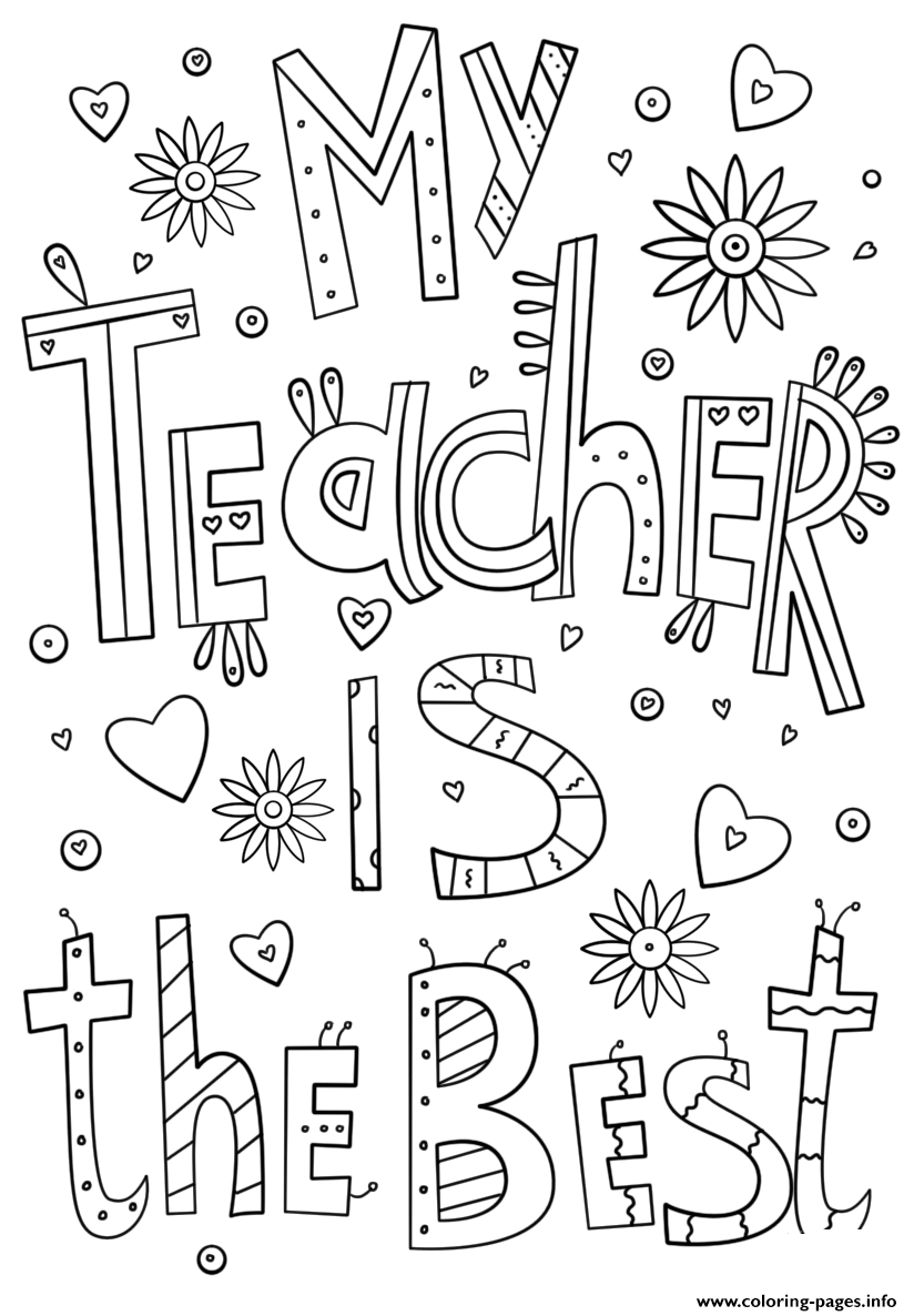 Teachers Thank You Teacher Certificate Coloring Pages