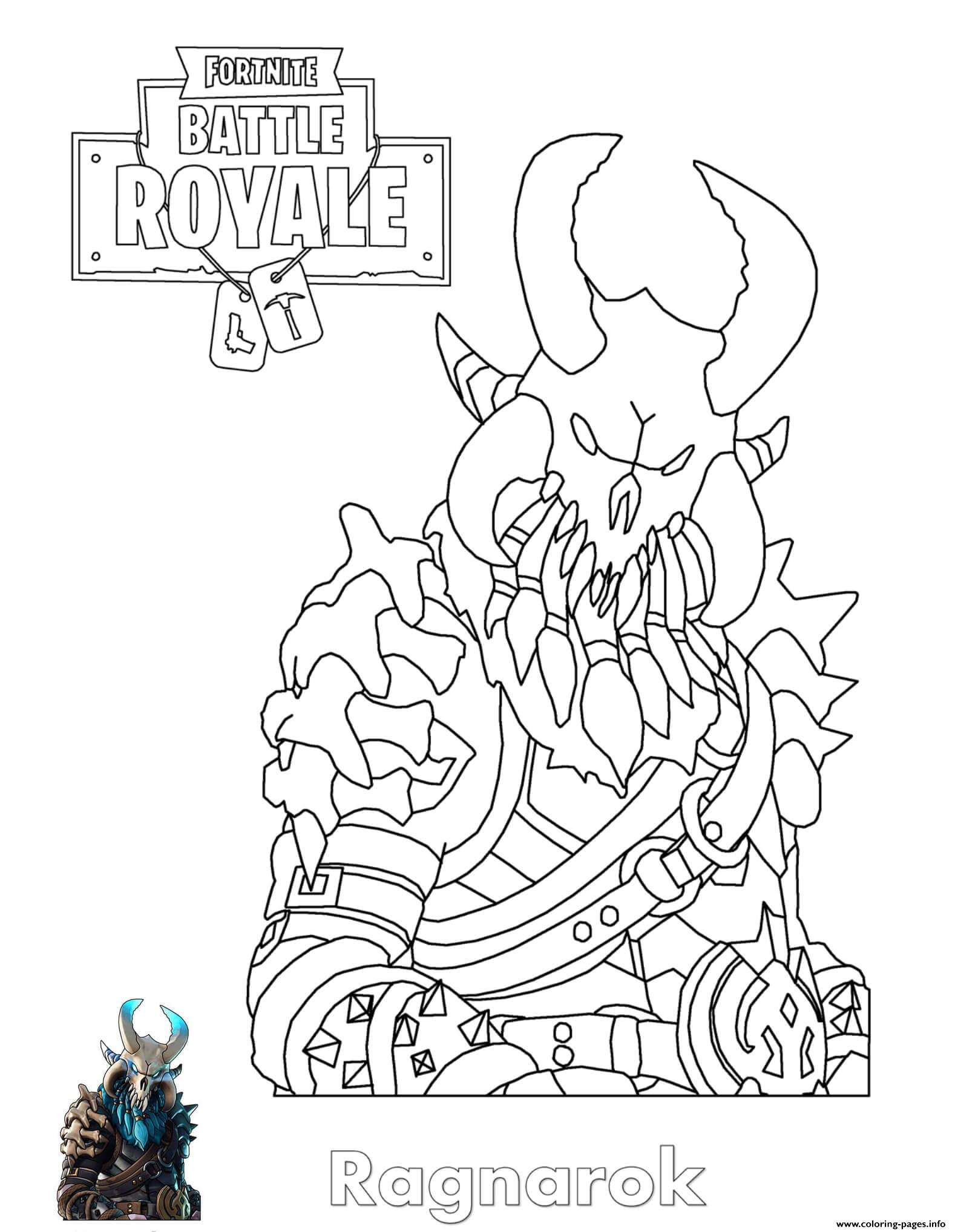 Ragnarok Fortnite Coloring Pages Printable