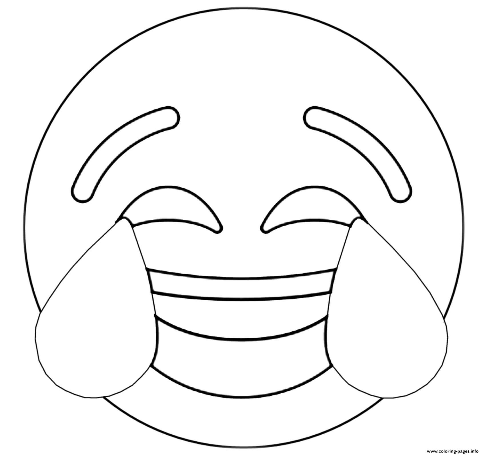 Twitter Crying Laughing Emoji Coloring Pages Printable