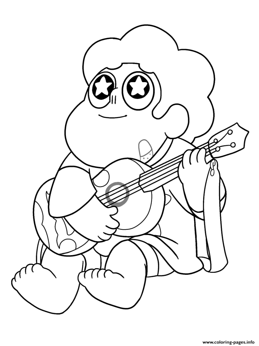 steven universe guitar music coloring pages printable