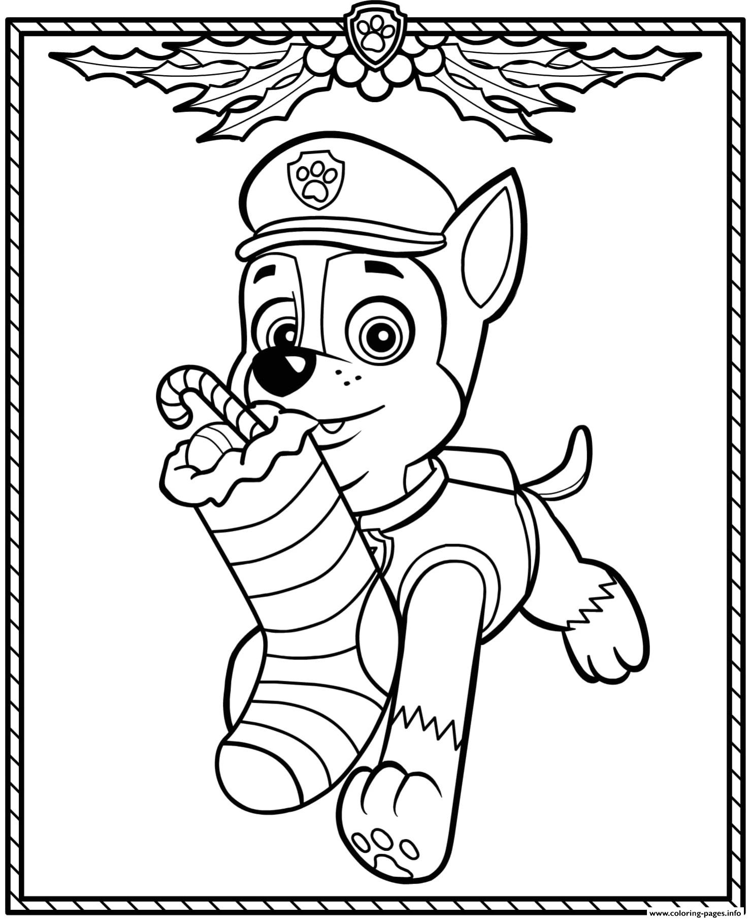 Christmas Paw Patrol Coloring Pages : christmas, patrol, coloring, pages, Patrol, Holiday, Christmas, Chase, Coloring, Pages, Printable