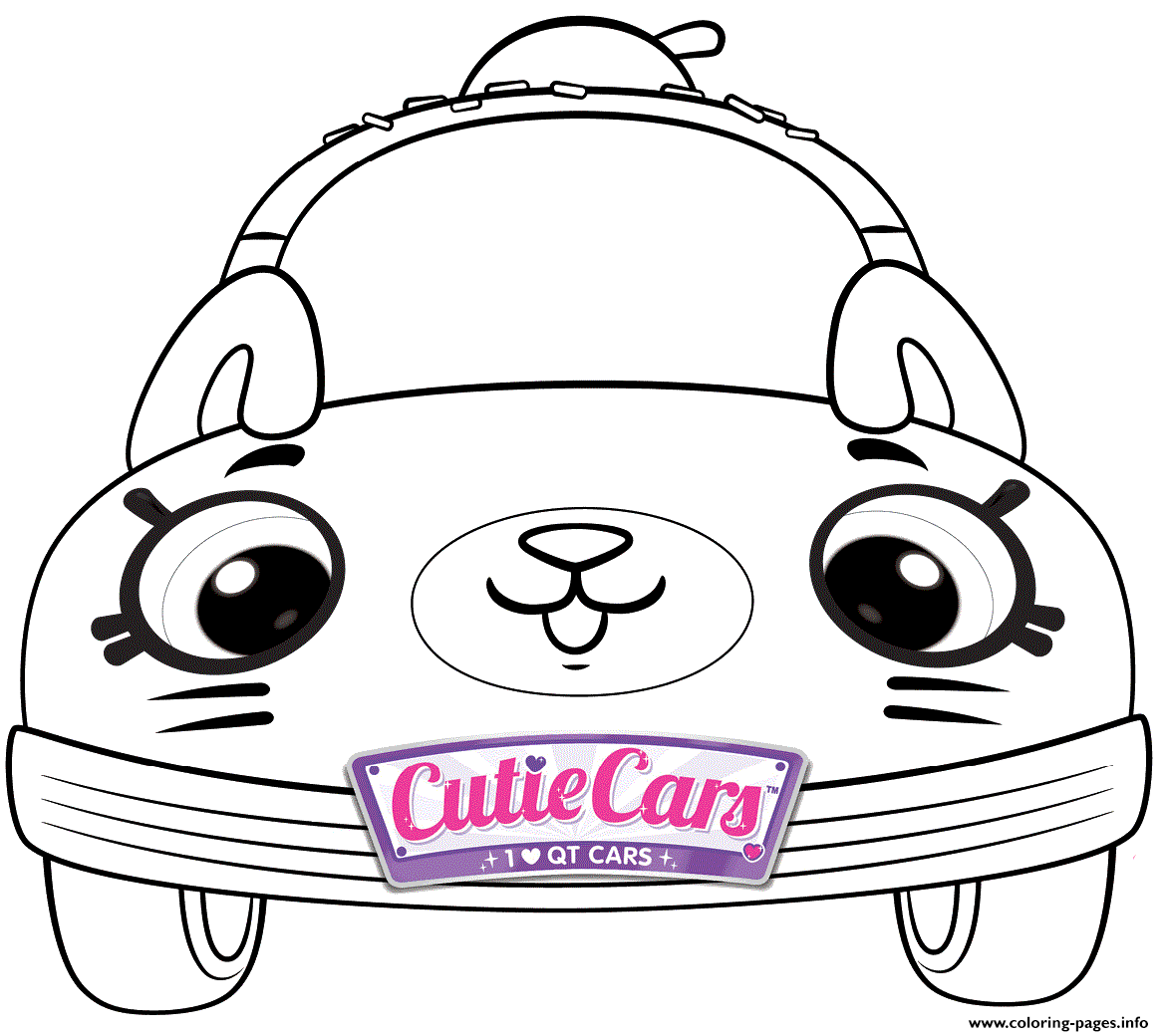 Cutie Cars Shopkins Kids Coloring Pages Printable