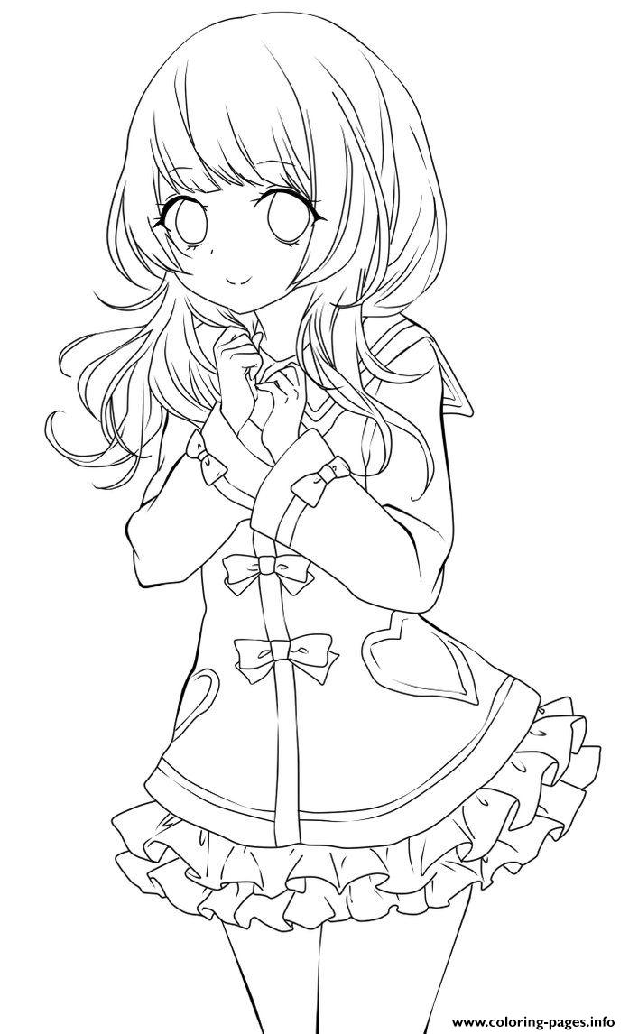 Anime Girl Coloring Pages : anime, coloring, pages, Chibi, School, Coloring, Pages, Printable