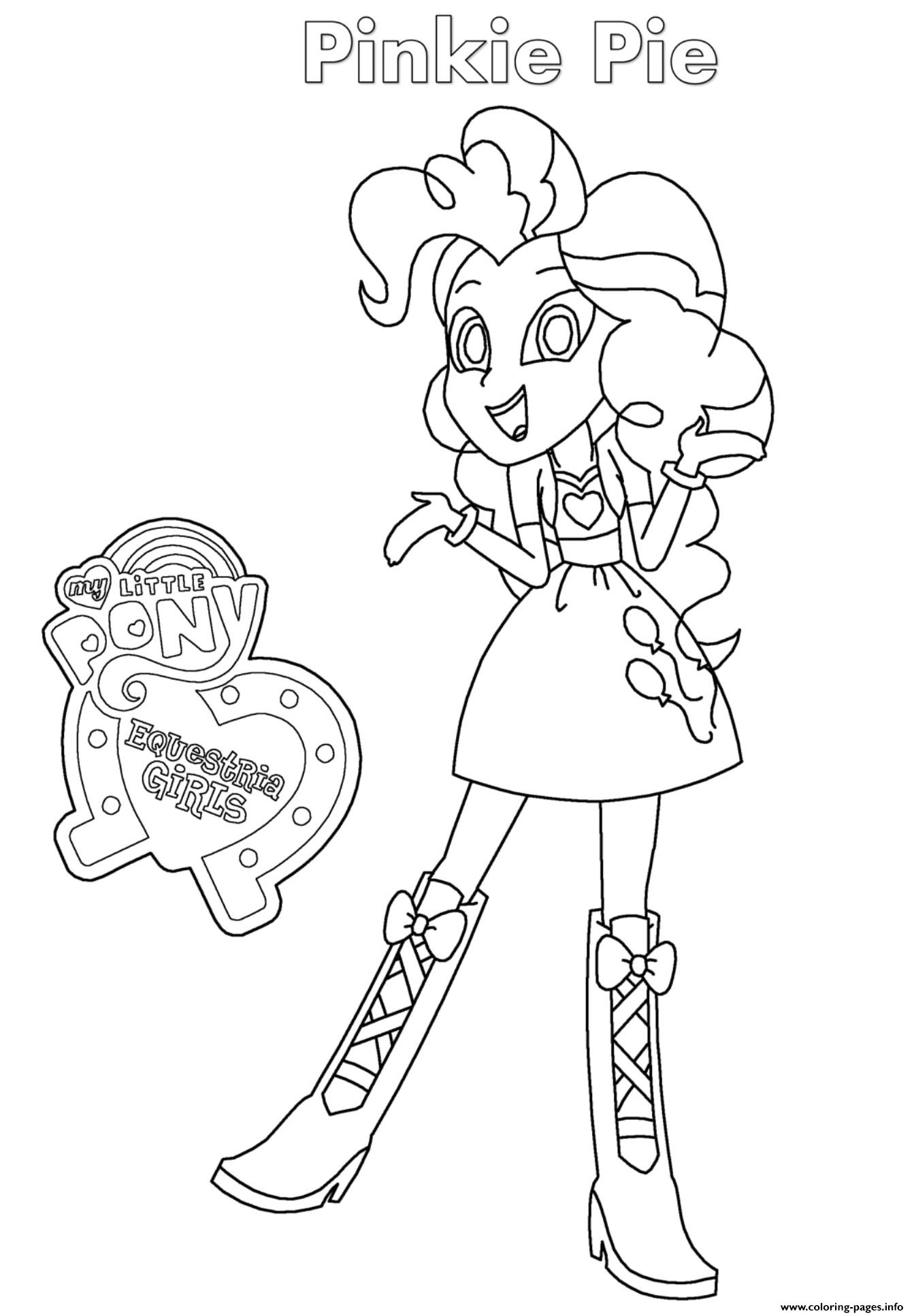 Pinkie Pie Coloring Page : pinkie, coloring, Equestria, Girls, Pinkie, Coloring, Pages, Printable