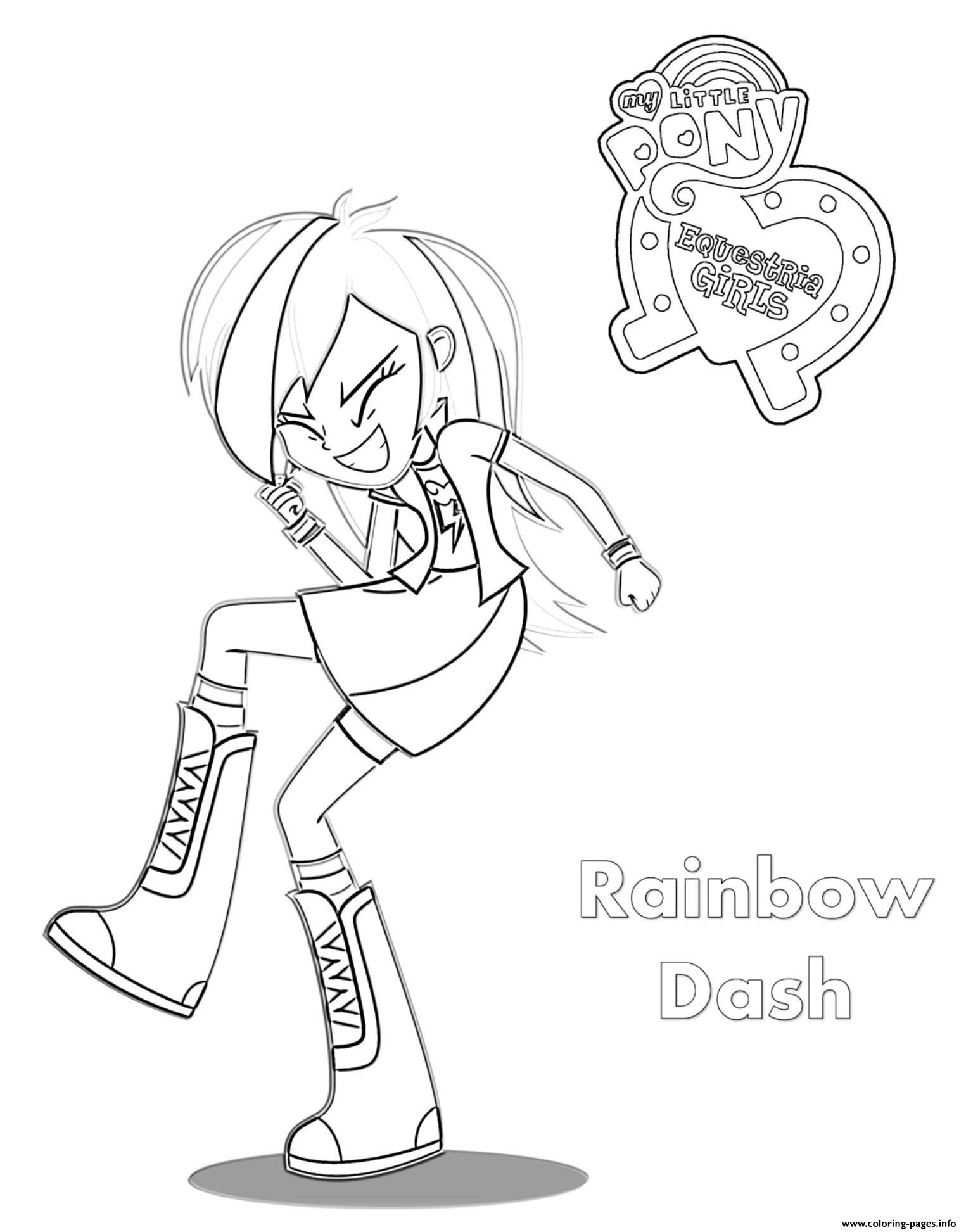 Coloriage My Little Pony Rainbow Dash : coloriage, little, rainbow, Little, Rainbow, Coloring, Pages, Printable