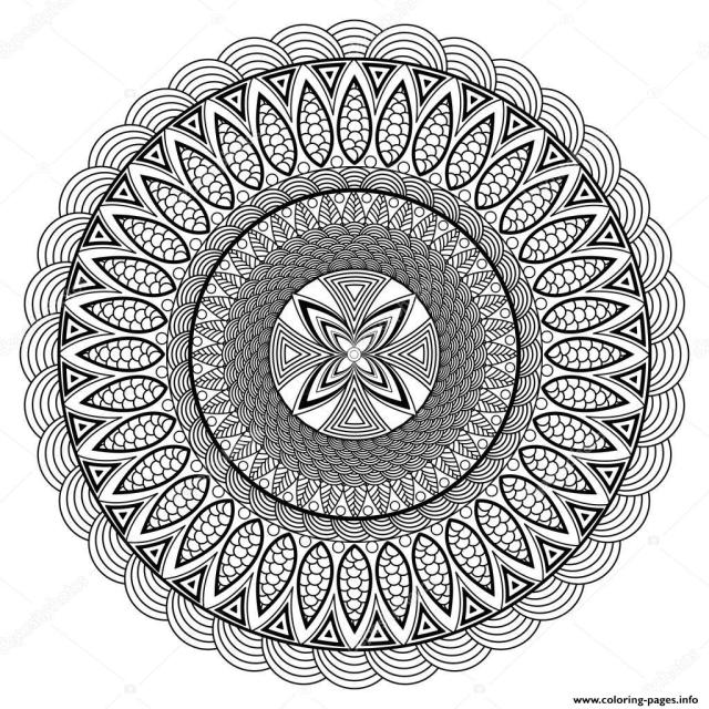 Mandala Adult Boho Style Coloring Pages Printable