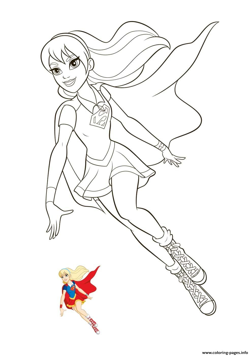Supergirl Super Hero Girls Coloring Pages Printable