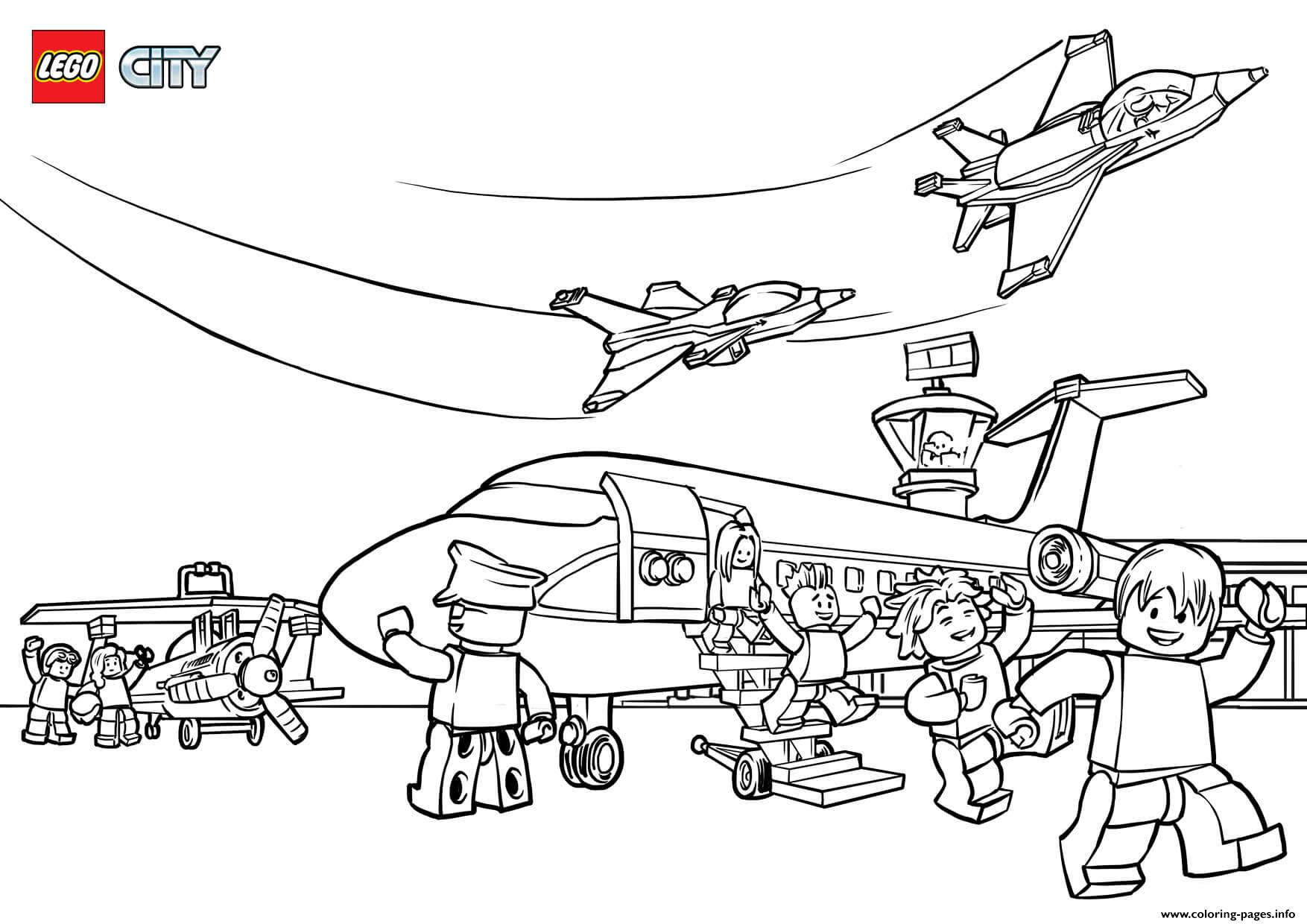 Lego City Airport Coloring Pages Printable