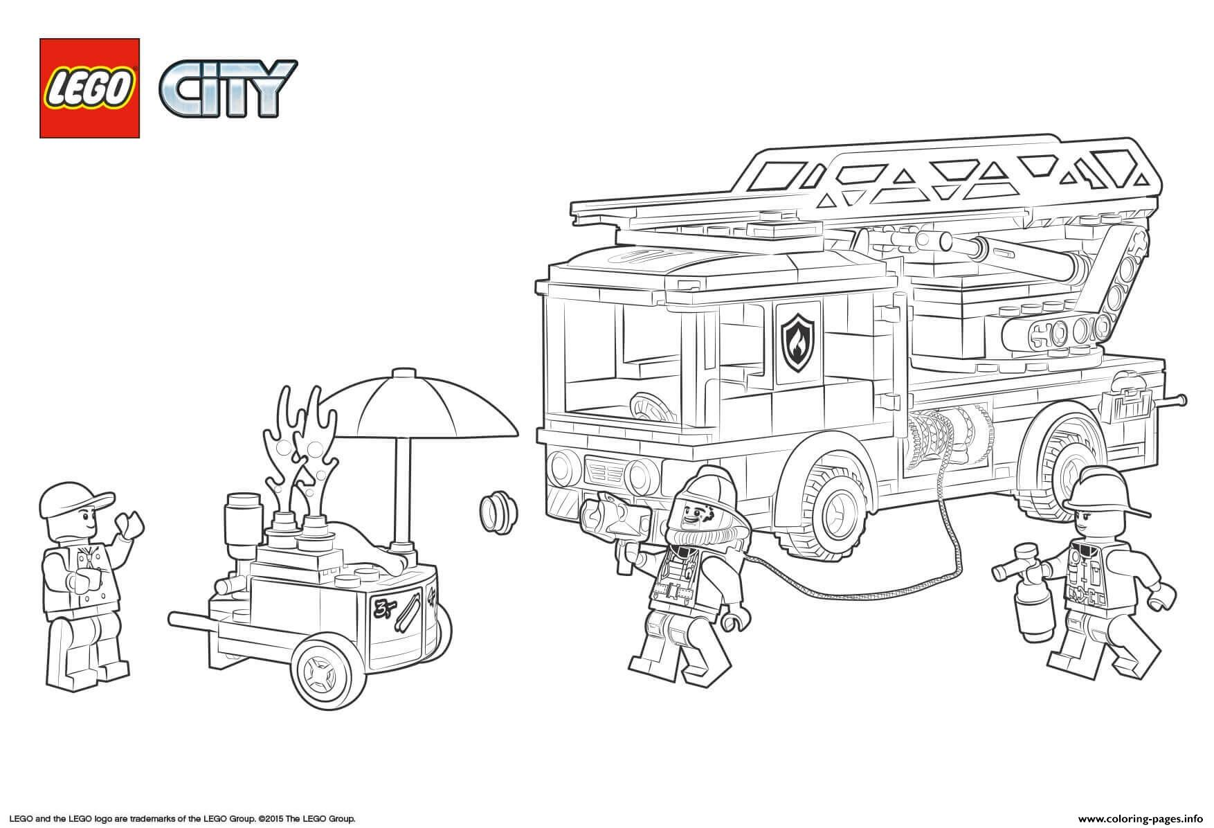 Lego City Fire Station Coloring Pages Printable