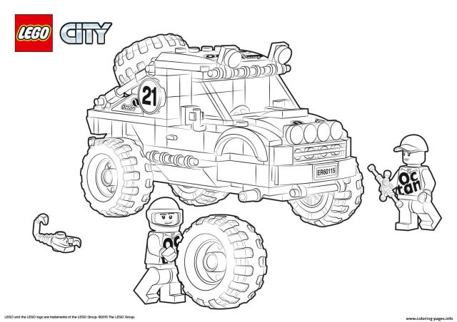 Lego City 10x10 Off Roader Coloring Pages Printable