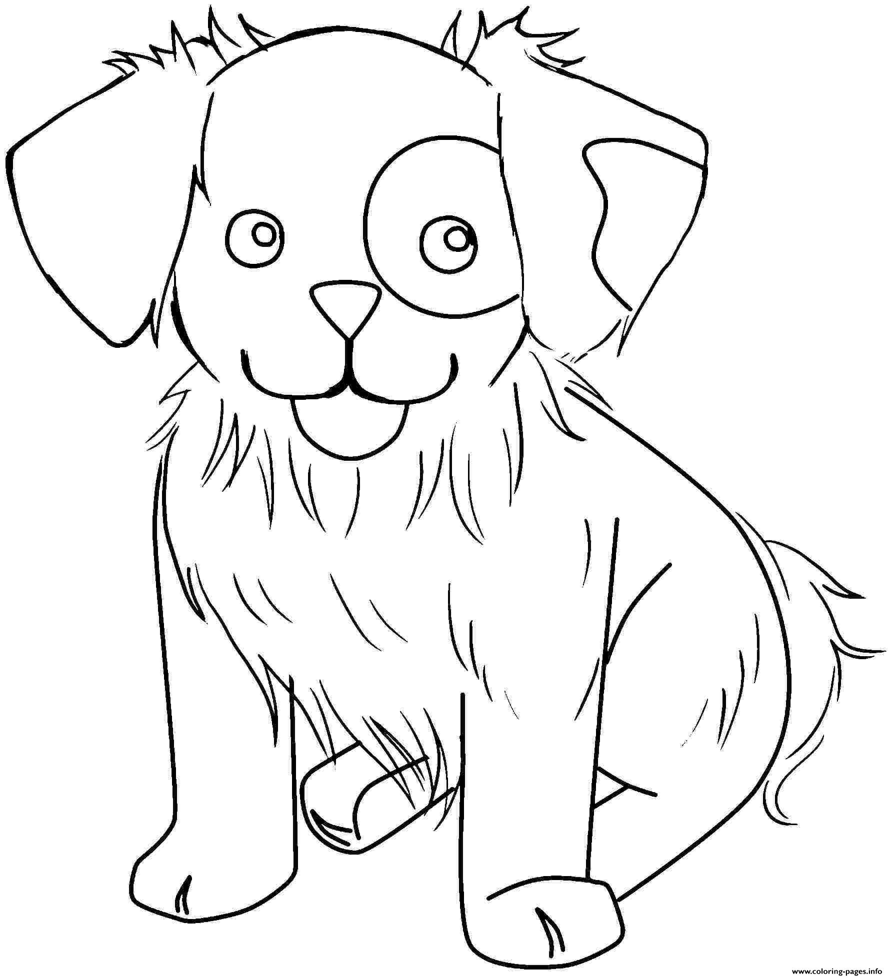 Crayola Cute Dog Animal Coloring Pages Printable