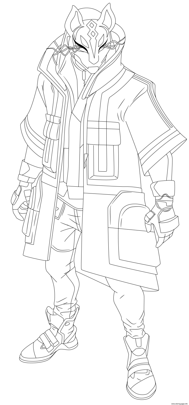 Drift Fortnite Hd Coloring Pages Printable