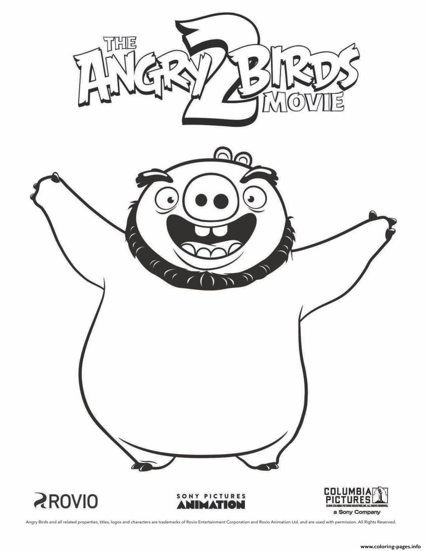 pig leonard from angry birds movie 2 coloring pages printable