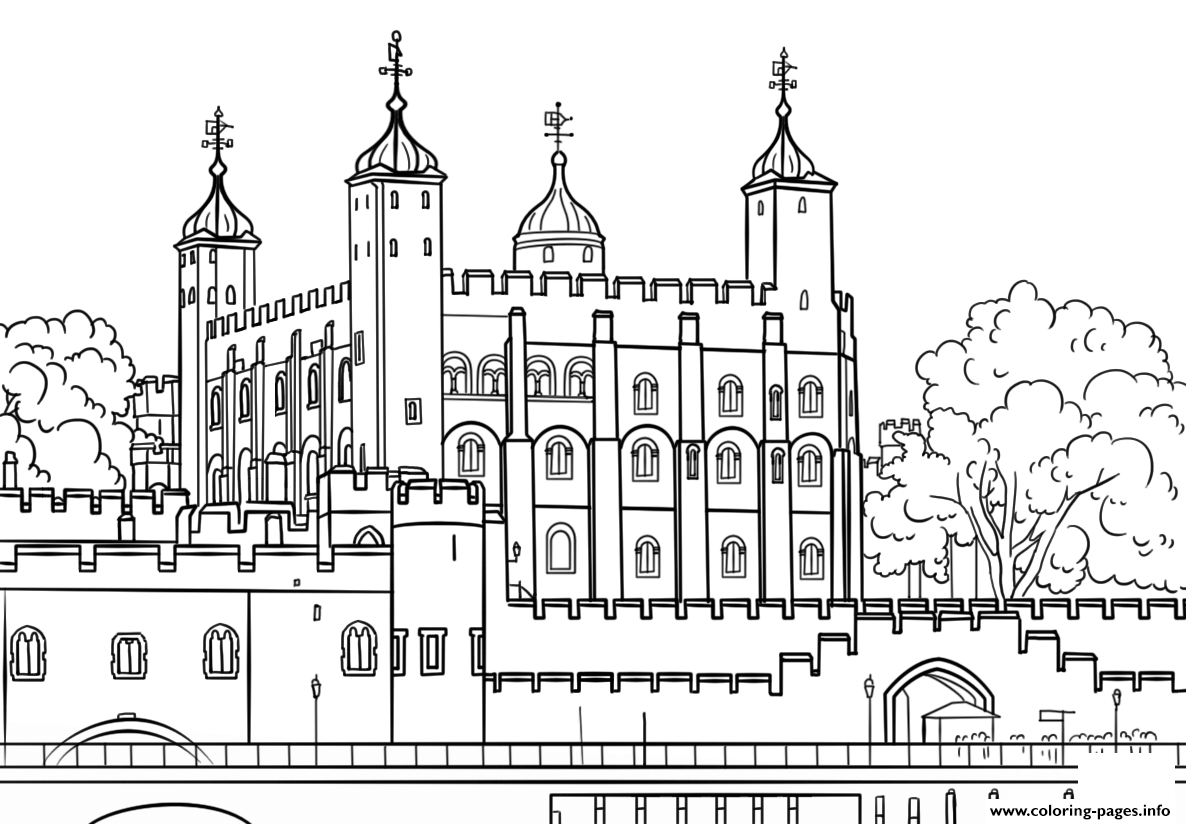 Tower Of London United Kingdom Coloring Pages Printable