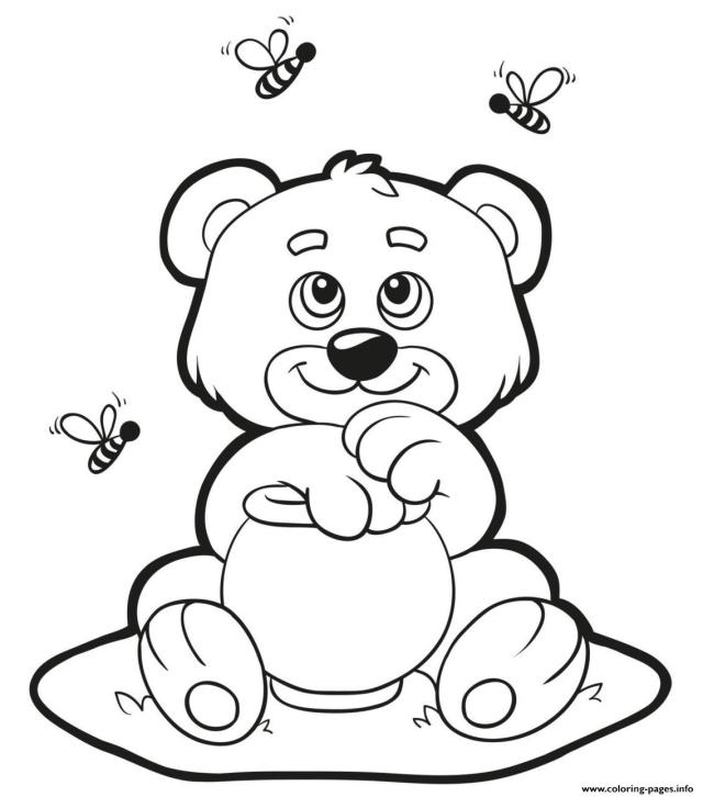 Honey Bear Coloring Pages Printable