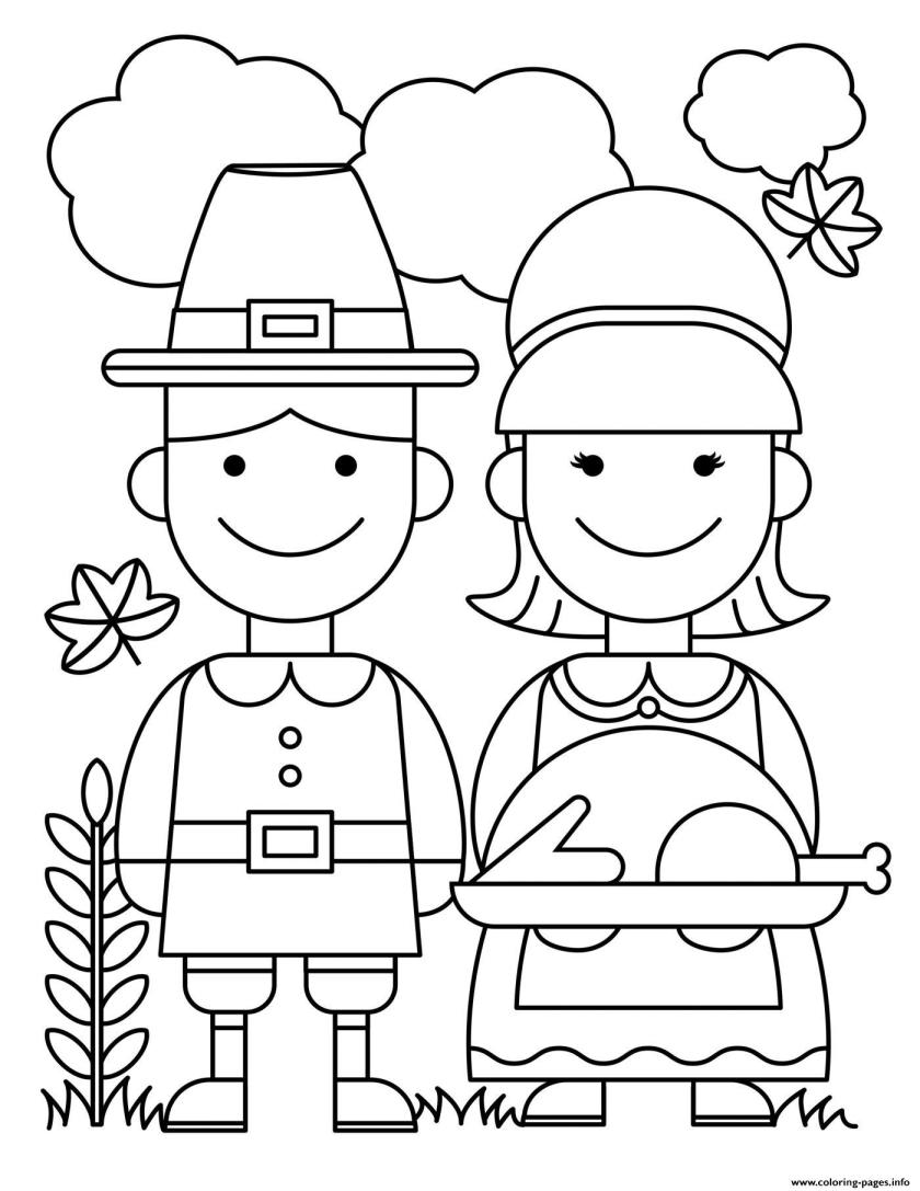 thanksgiving couple food ready turkey coloring pages printable