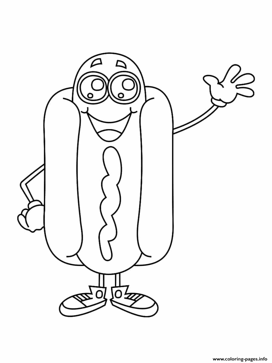 Hotdog Coloring Pages : hotdog, coloring, pages, Hotdog, Kawaii, Coloring, Pages, Printable