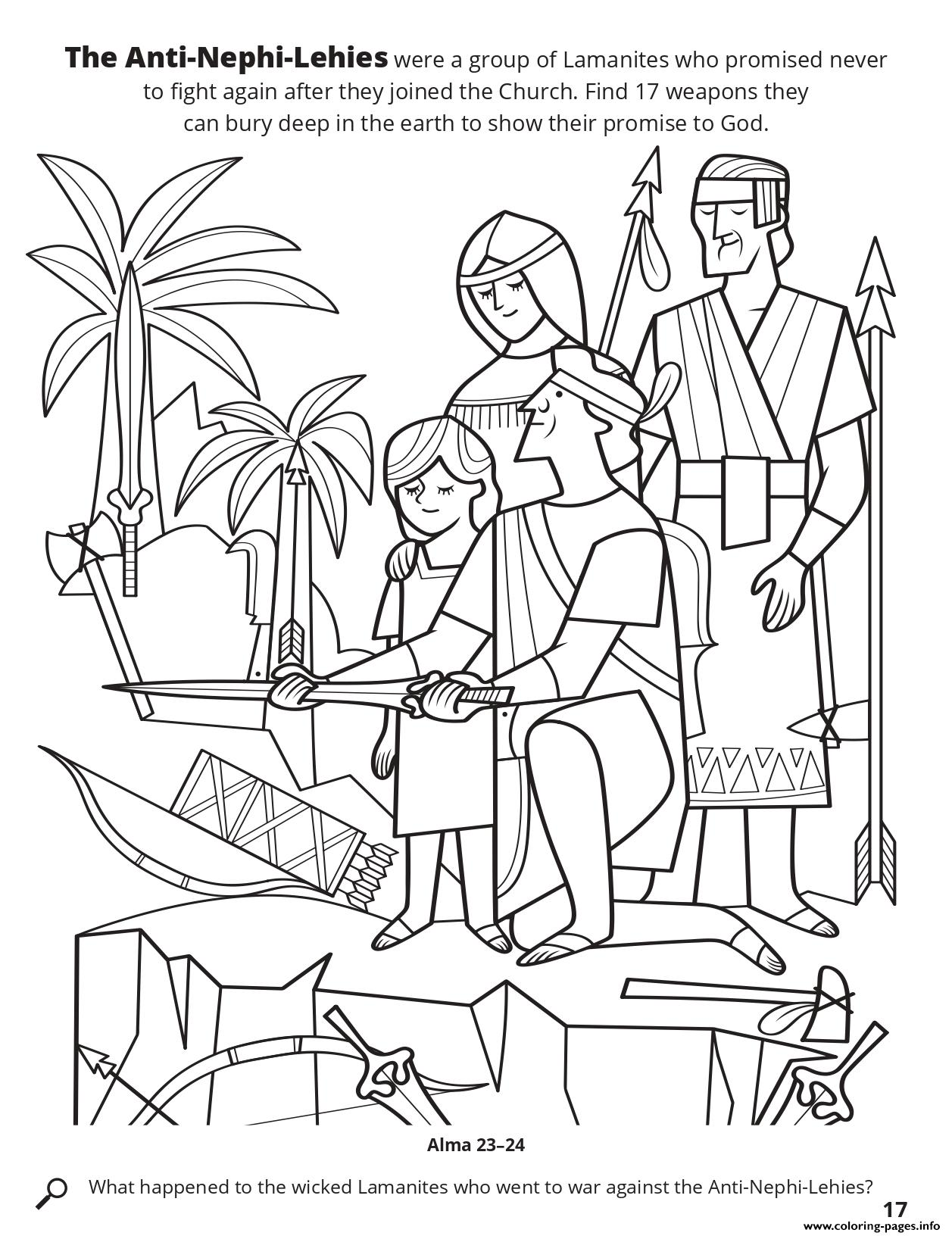 The Anti Nephi Lehies Were A Group Of Lamanites Who