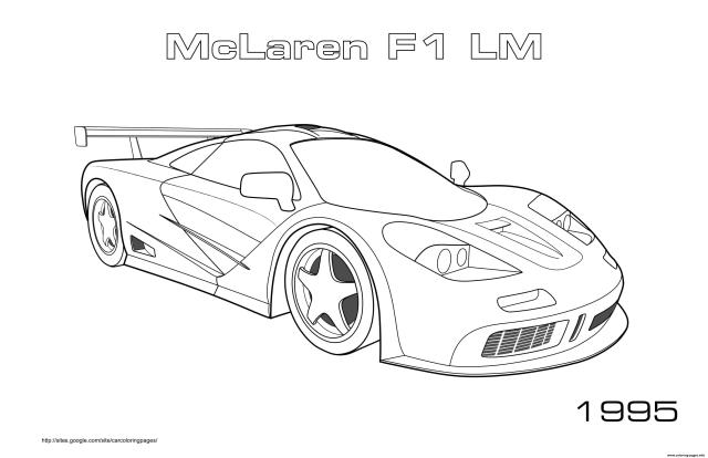 Mclaren F20 Lm 20995 Coloring Pages Printable