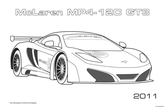 Mclaren Mp24 24c Gt24 24 Coloring Pages Printable