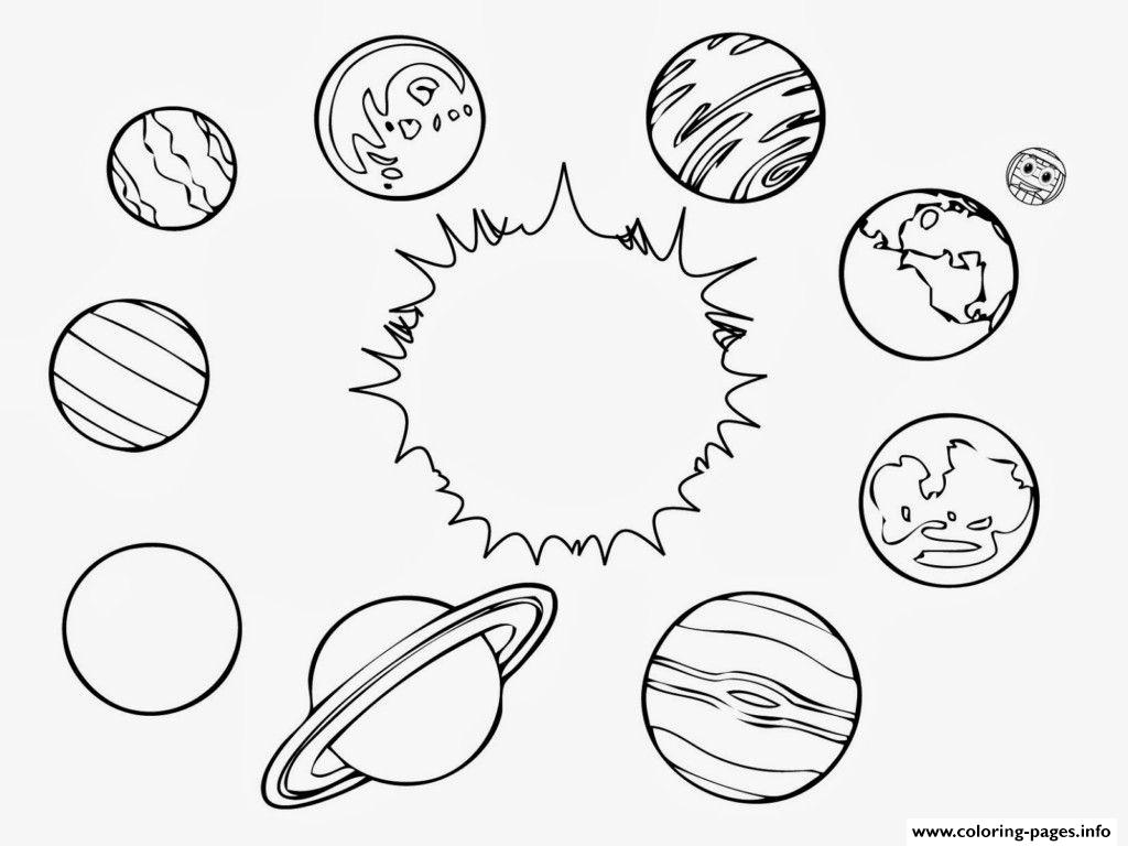 Solar System Planets Coloring Pages Printable